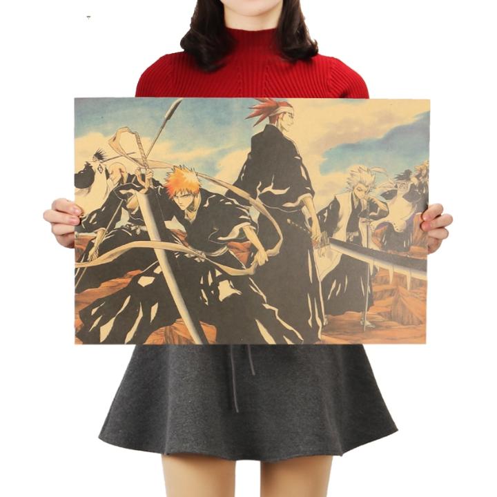 Bleach Characters Retro Kraft Paper Poster