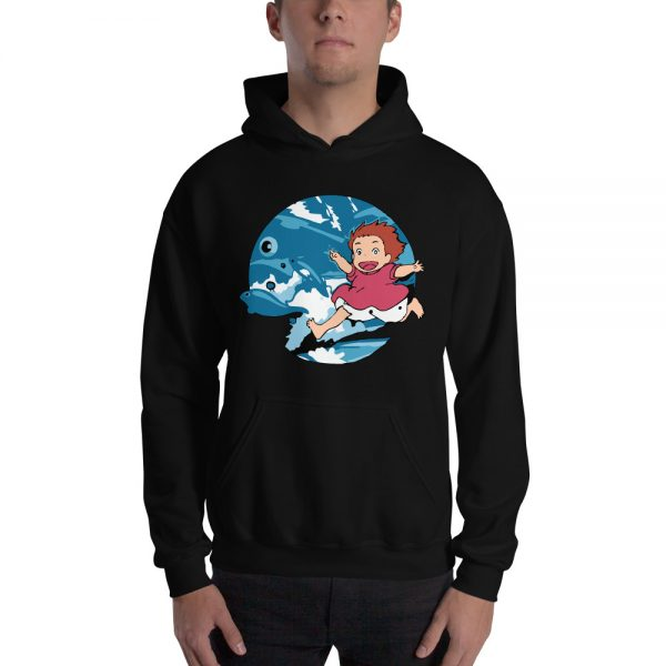 Ghibli Studio Ponyo On The Waves Hoodie Unisex