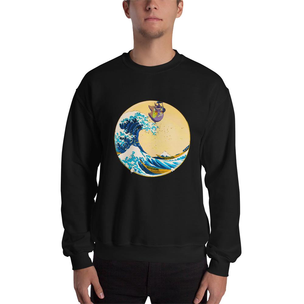 Totoro On The Waves Swearshirt Unisex