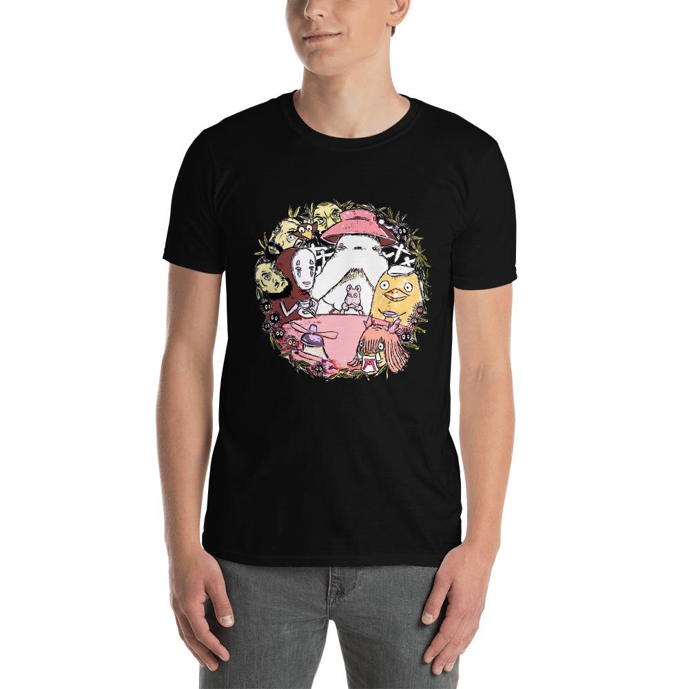Spirited Away No Face Tea Time T Shirt Unisex