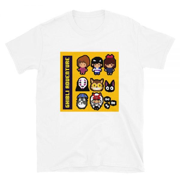 8 BIT Ghibli Characters Adventures T Shirt Unisex