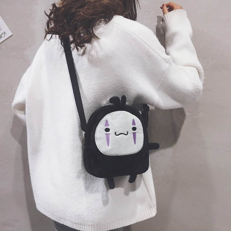 Spirited Away Cute No Face Mini Plush Bag