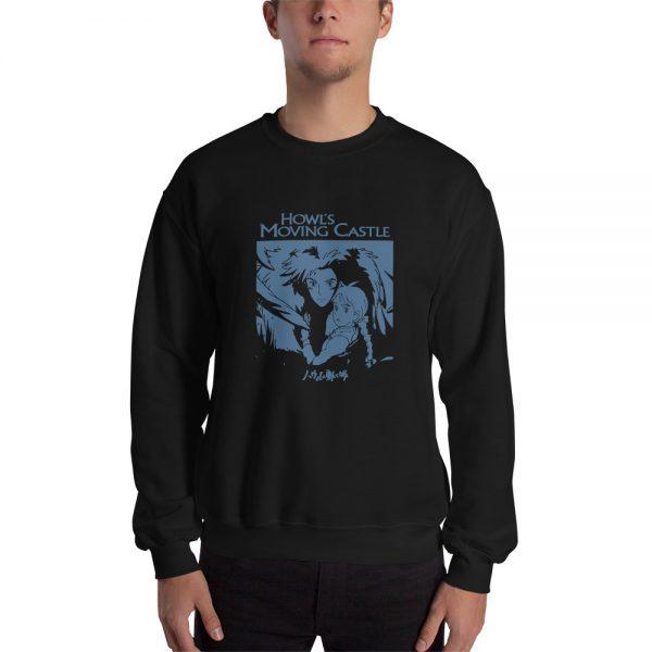 Howl's Moving Castle Black & White Sweatshirt Unisex