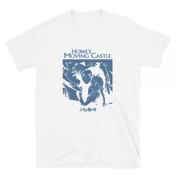Howl's Moving Castle Black & White T Shirt Unisex