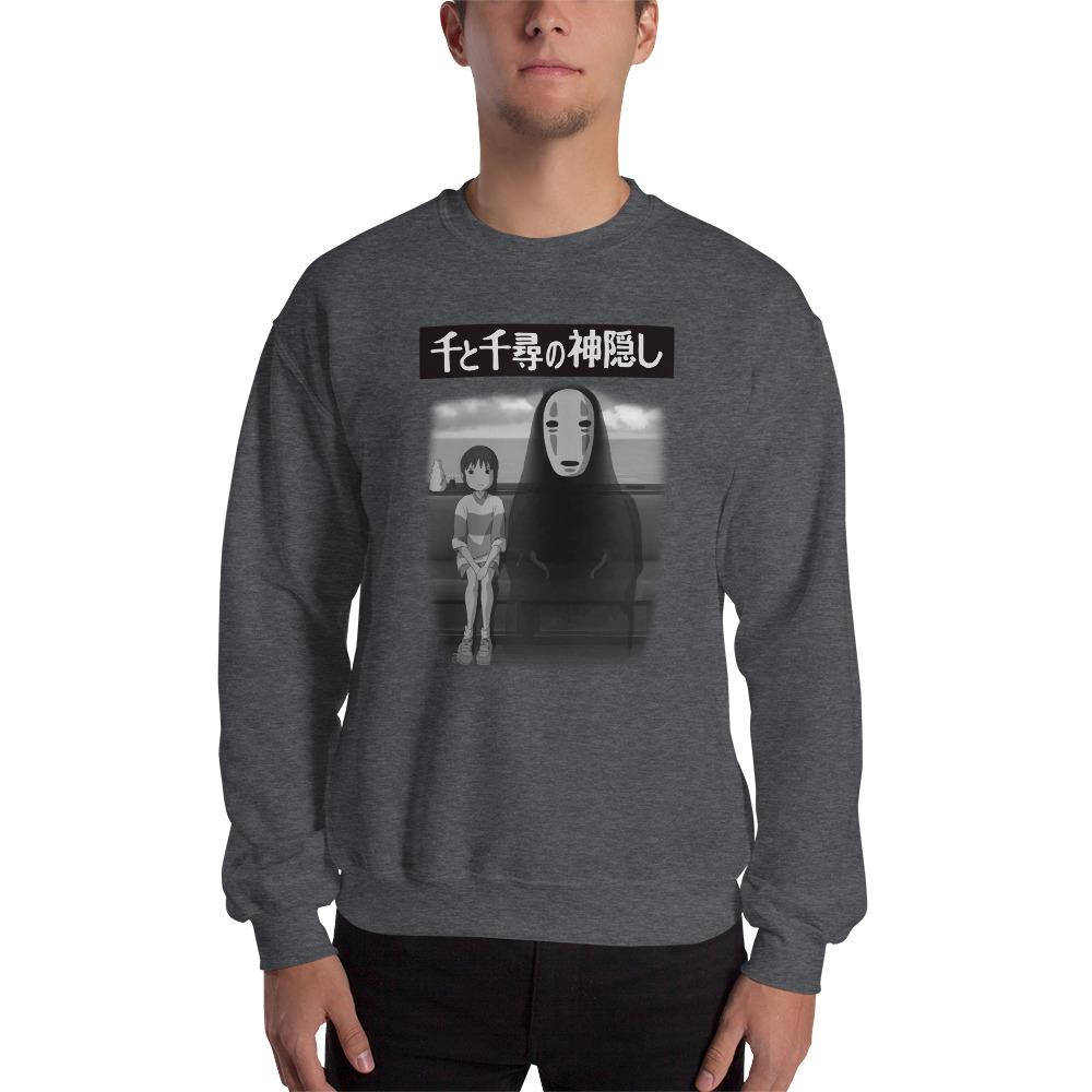 Spirited Away – Chihiro and No Face on the Train Unisex Sweatshirt