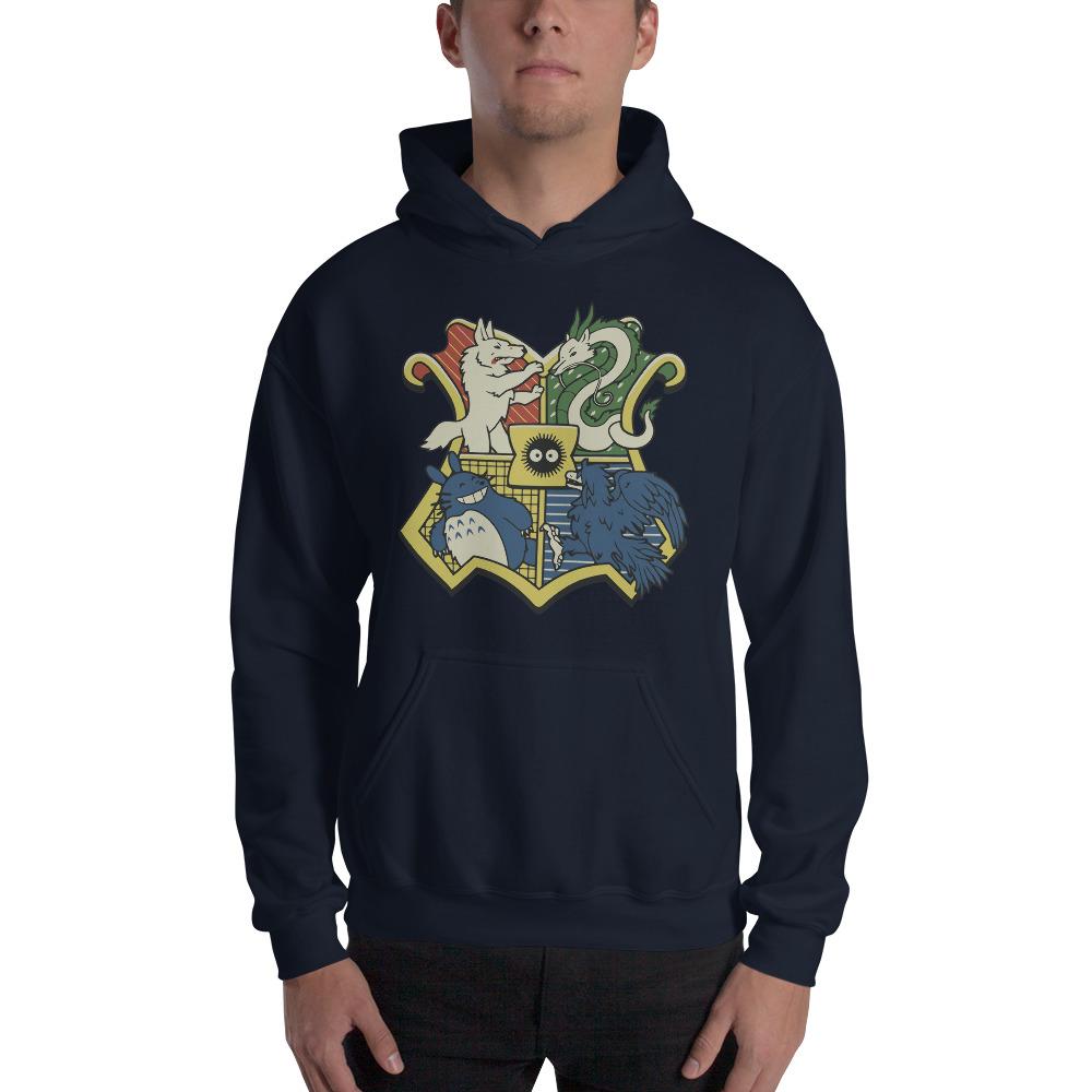 Studio Ghibli Characters As Hogwarts House Hoodie Unisex