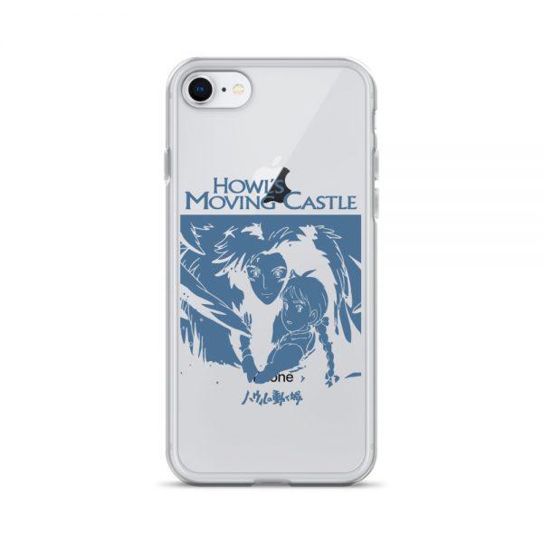 Howl's Moving Castle Black & White iPhone Case