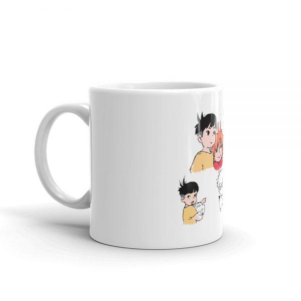 Ponyo and Sosuke Sketch Mug