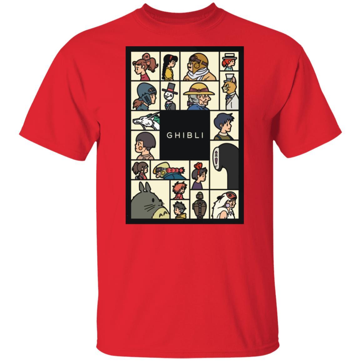 Compilation Characters of Studio Ghibli T shirt Unisex