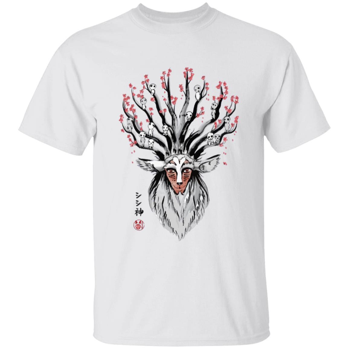 Princess Mononoke – Shishigami and Sakura T Shirt