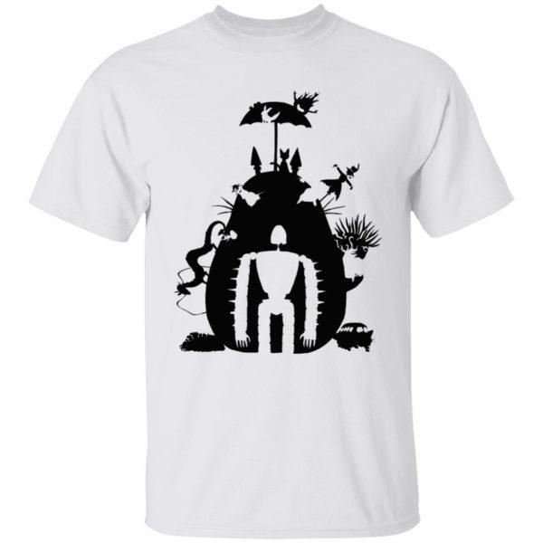 Studio Ghibli Black & White Art Compilation T Shirt Unisex