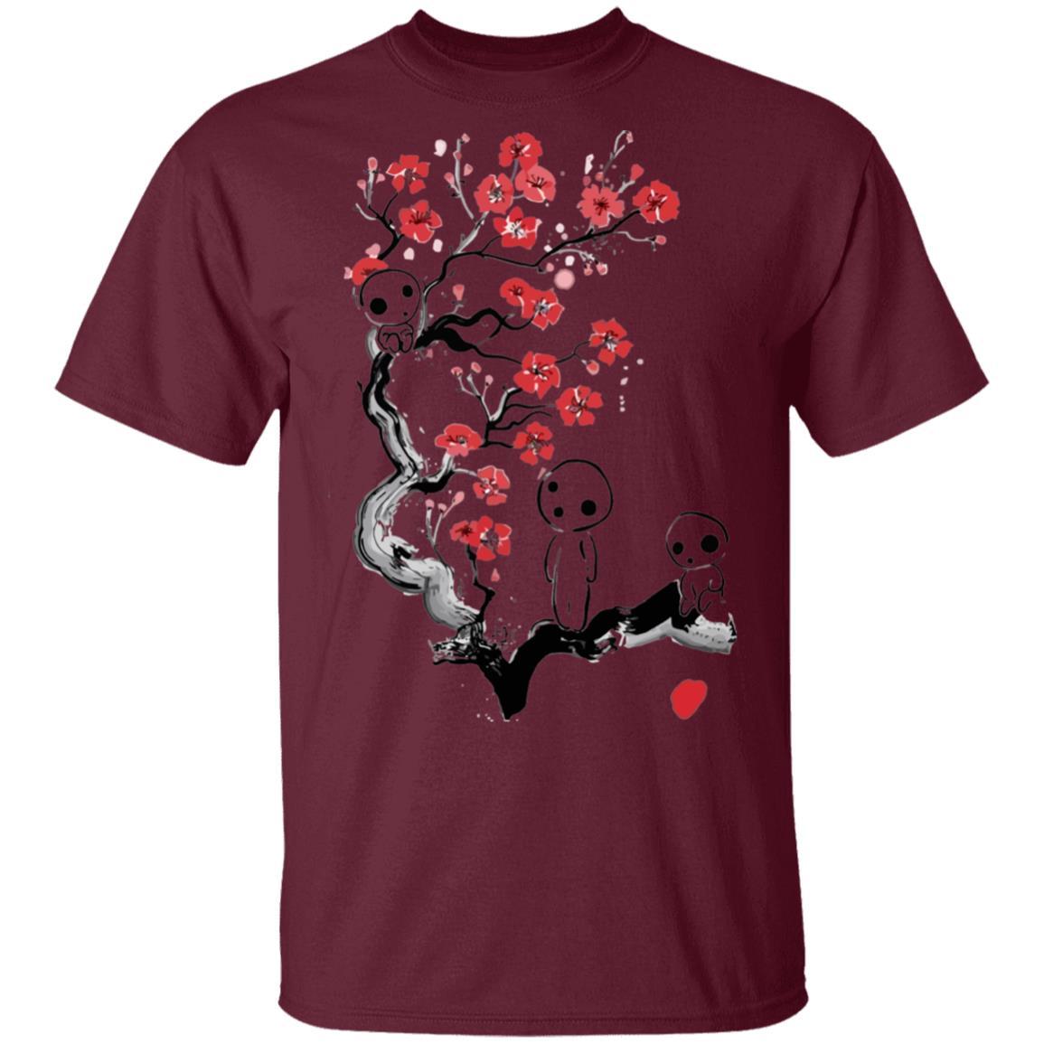 Princess Mononoke – Tree Spirits on the Cherry Blossom T Shirt Unisex