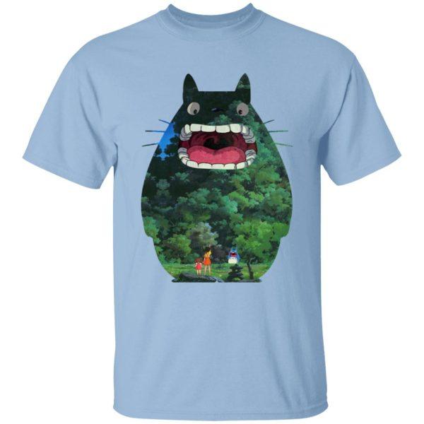 Totoro Jungle Color Cutout T Shirt