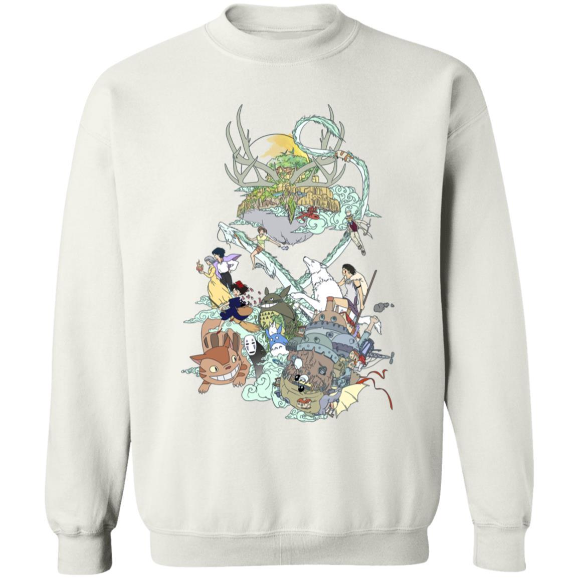 Ghibli Characters Color Collection Sweatshirt