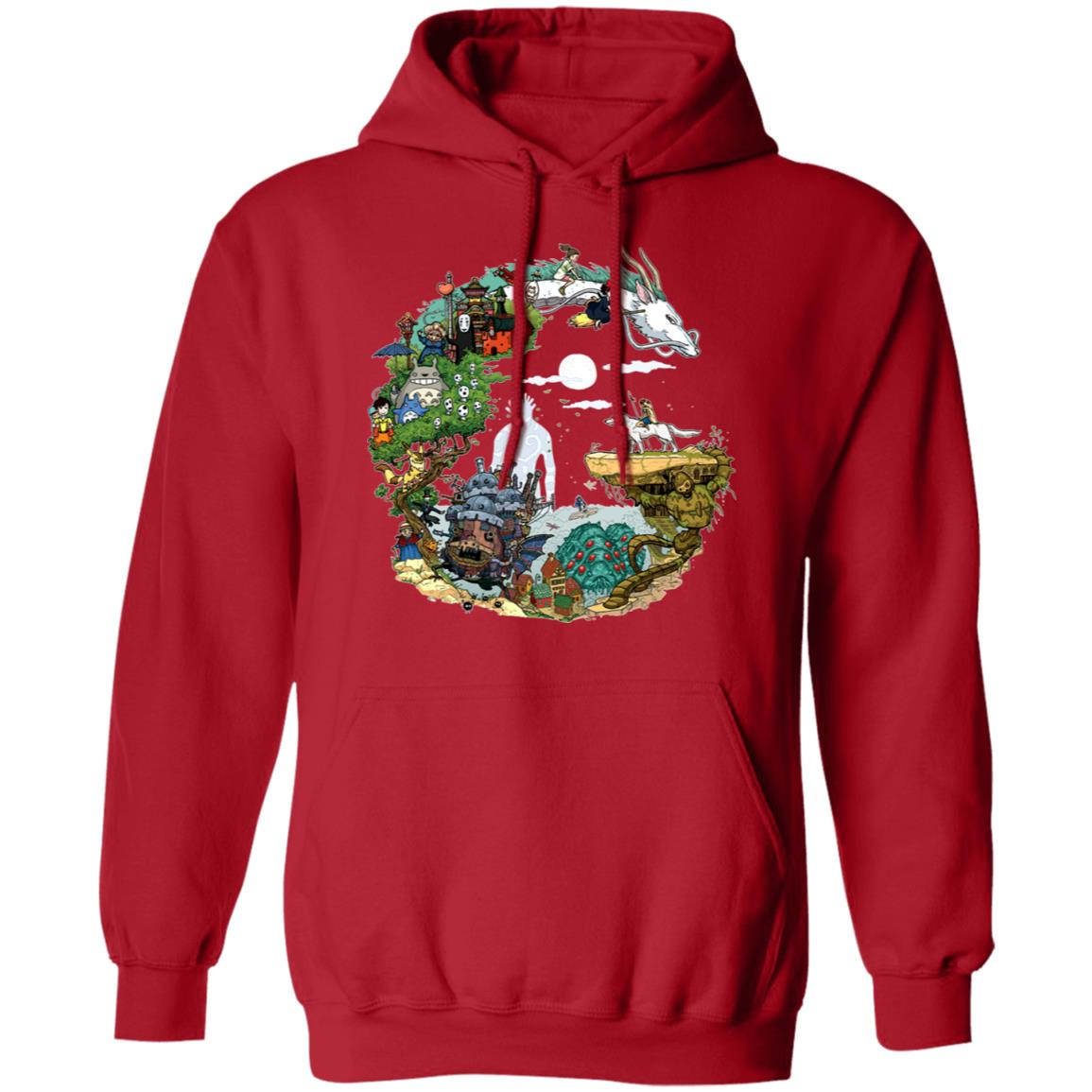 Ghibli Movie Circle Hoodie