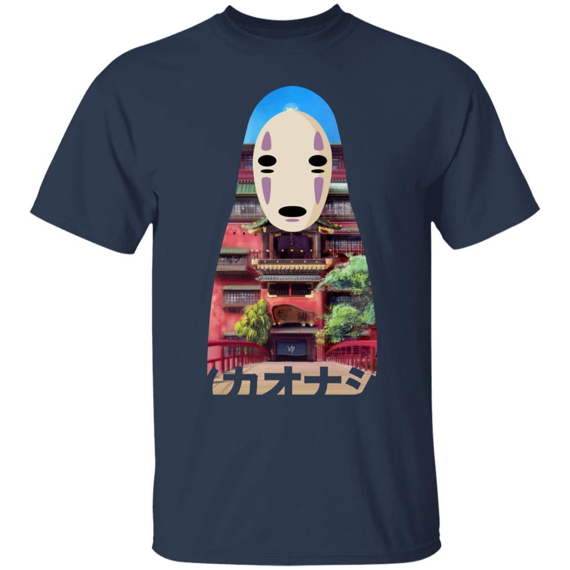 Spirited Away Kaonashi Cutout Colorful T Shirt