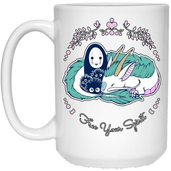 Customcat Spirited Away – No Face and Haku Dragon Mug