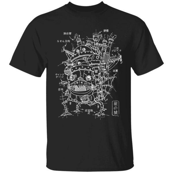 Customcat Howl's Moving Castle Sketch T Shirt