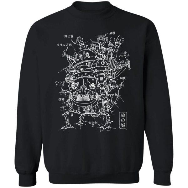 Customcat Howl's Moving Castle Sketch Sweatshirt
