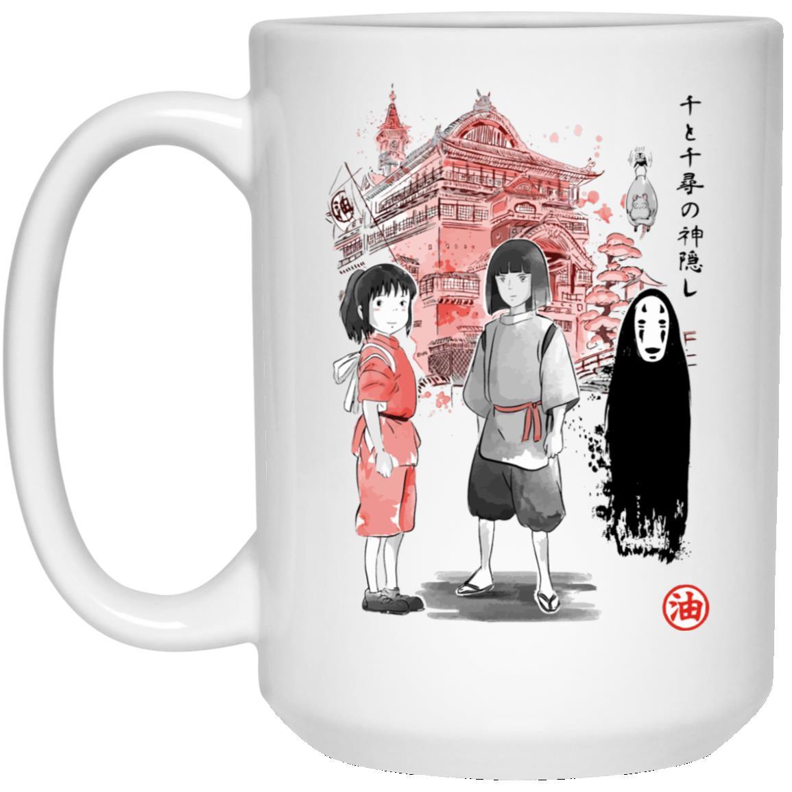 Spirited Away – Sen and Friends by the Bathhouse Mug