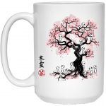 Tree Spirits under the Sakura Mug 15Oz