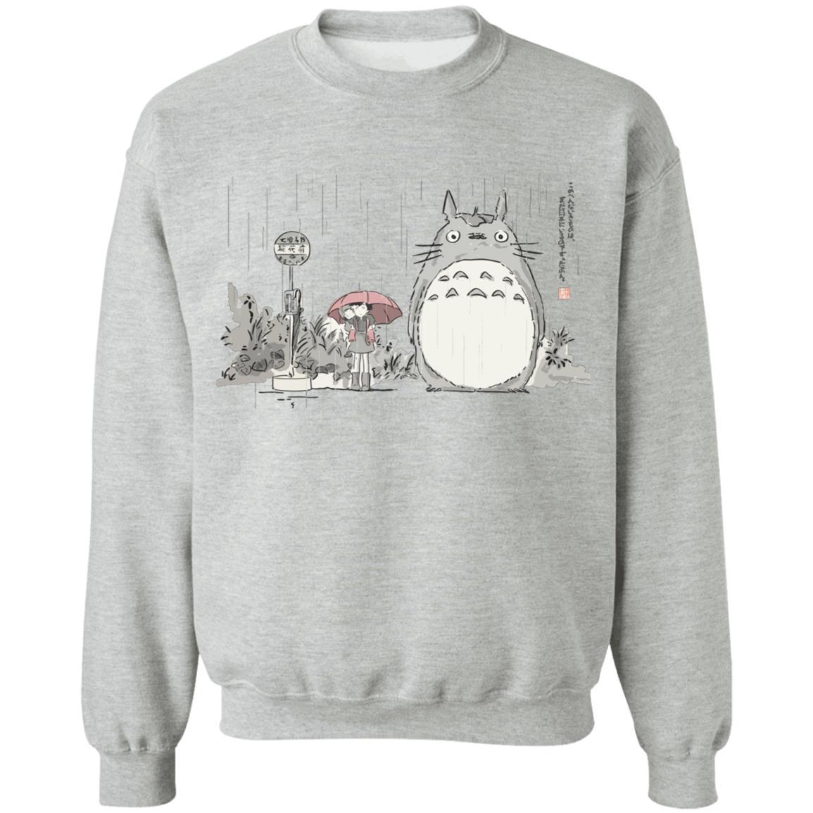 Totoro At The Bus Stop Sweatshirt