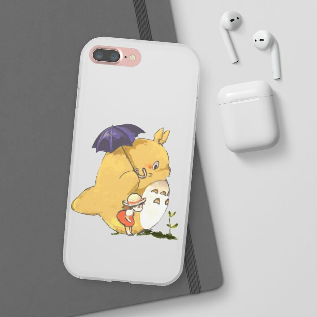 Umbrella Totoro and Mei iPhone Cases