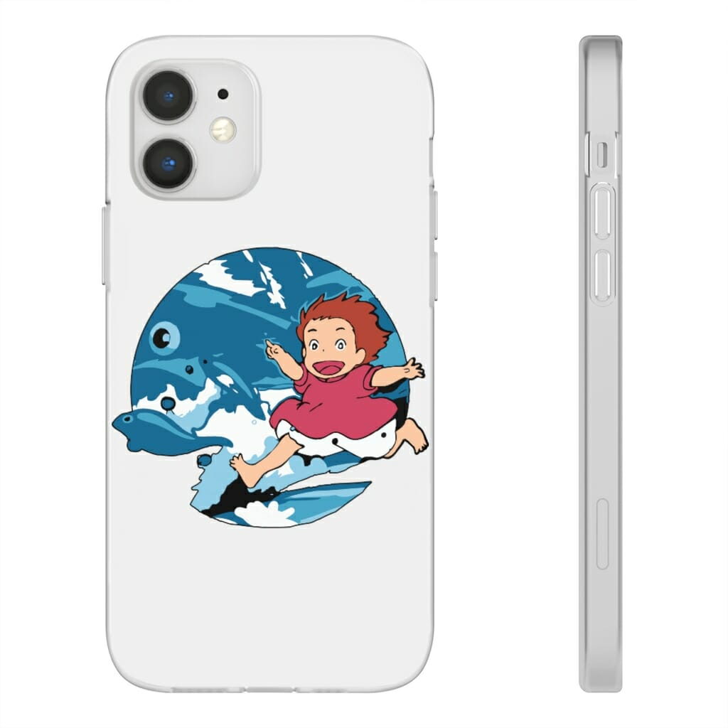 Ghibli Studio Ponyo On The Waves iPhone Cases