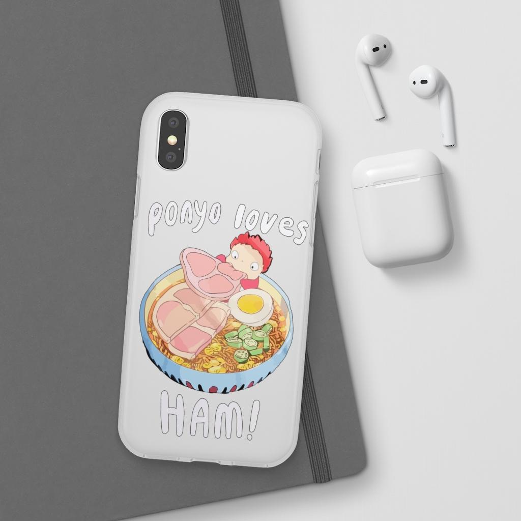 Ponyo Loves Ham iPhone Cases