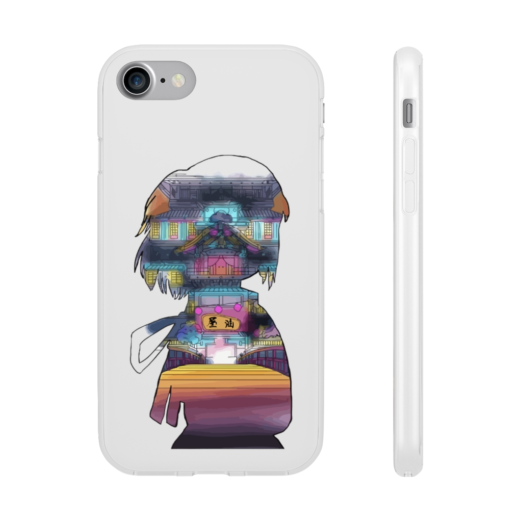 Spirited Away – Sen and The Bathhouse Cutout Colorful iPhone Cases