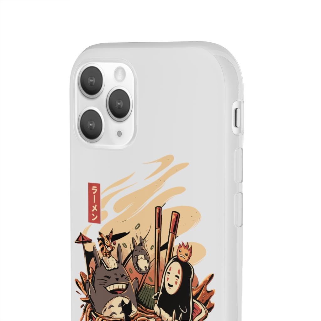 Totoro and No Face Ramen Bath iPhone Cases