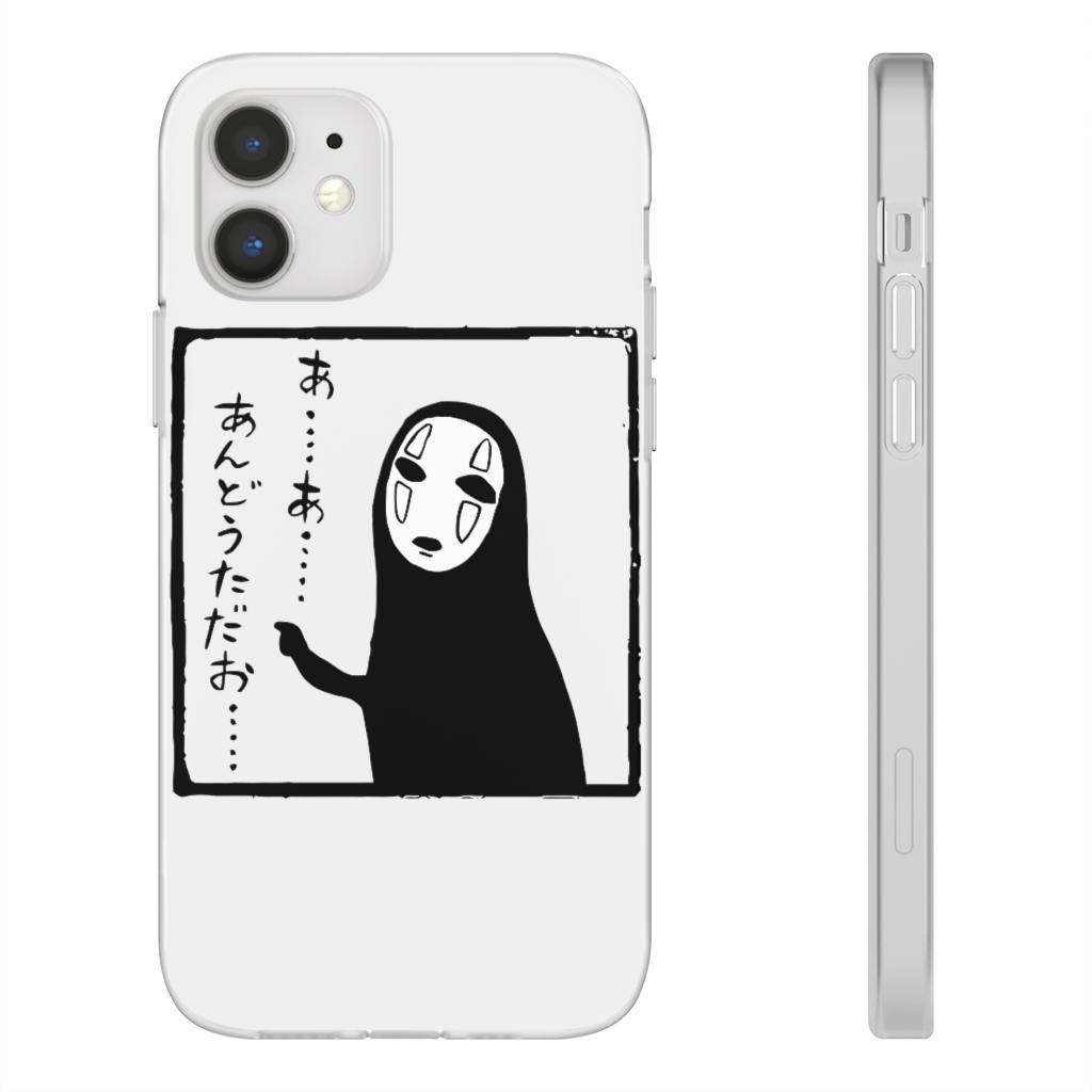 Spirited Away No Face Kaonashi Whispering iPhone Cases