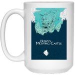 Howl's Moving Castle Blue Tone Art Mug 15Oz