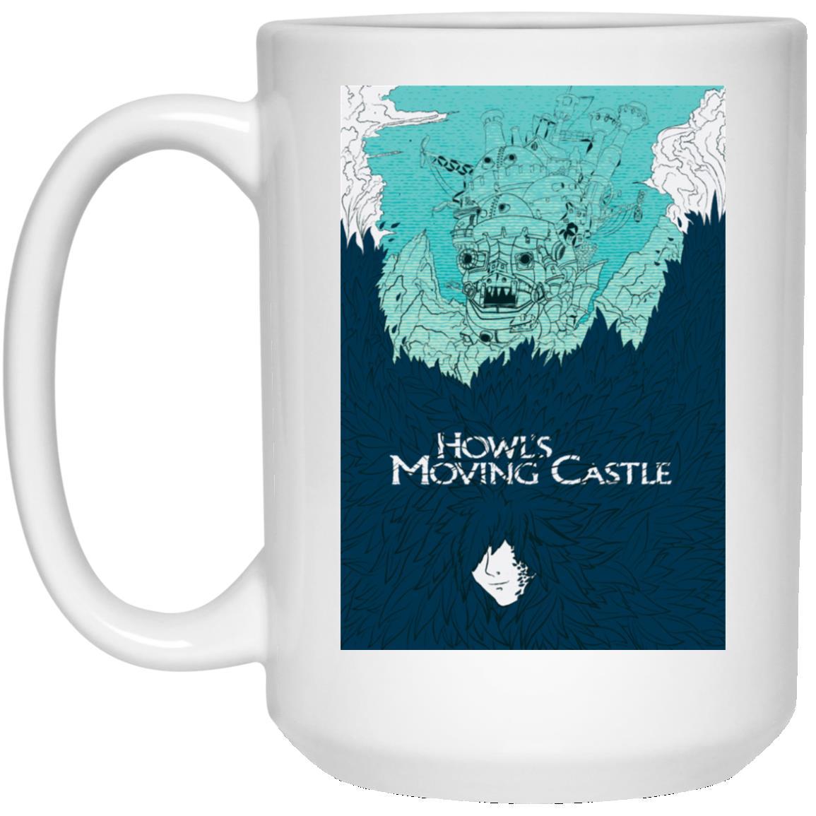 Howl's Moving Castle Blue Tone Art Mug