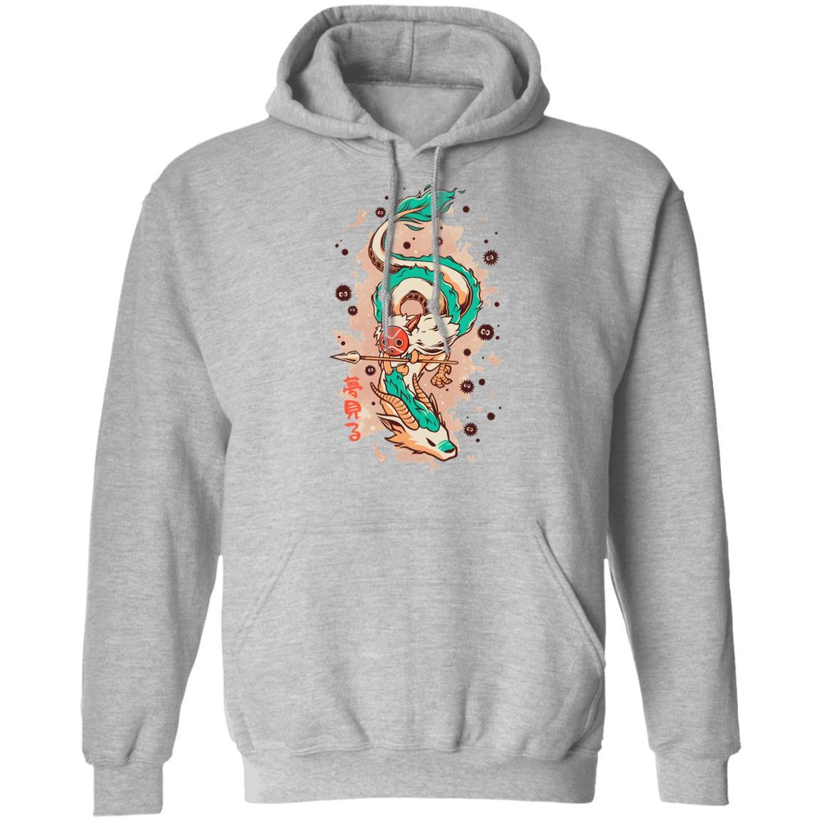 Princess Mononoke on the Dragon Hoodie