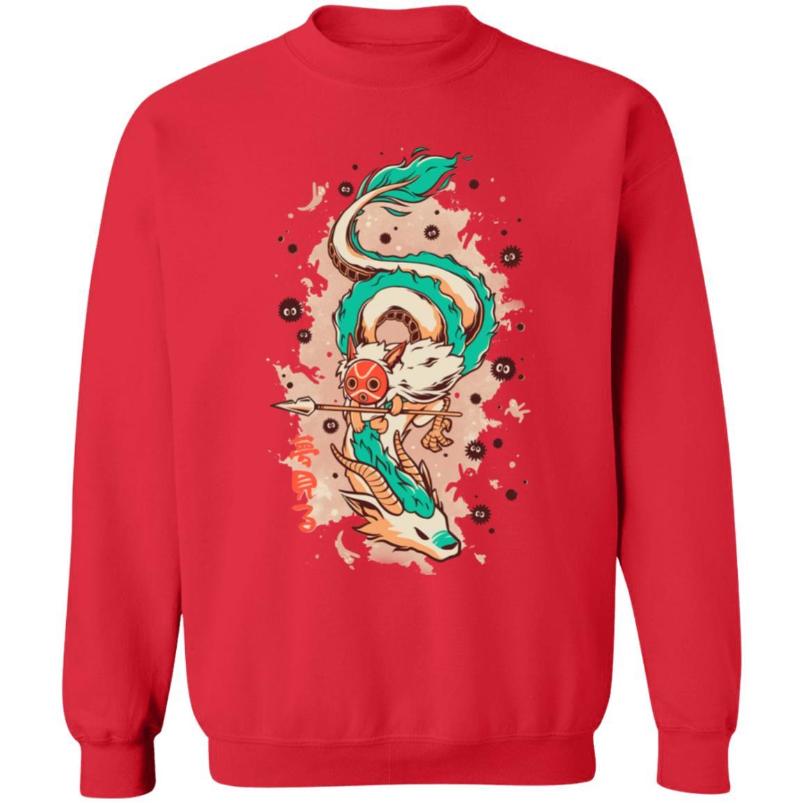 Princess Mononoke on the Dragon Sweatshirt