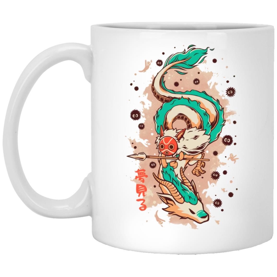 Princess Mononoke on the Dragon Mug