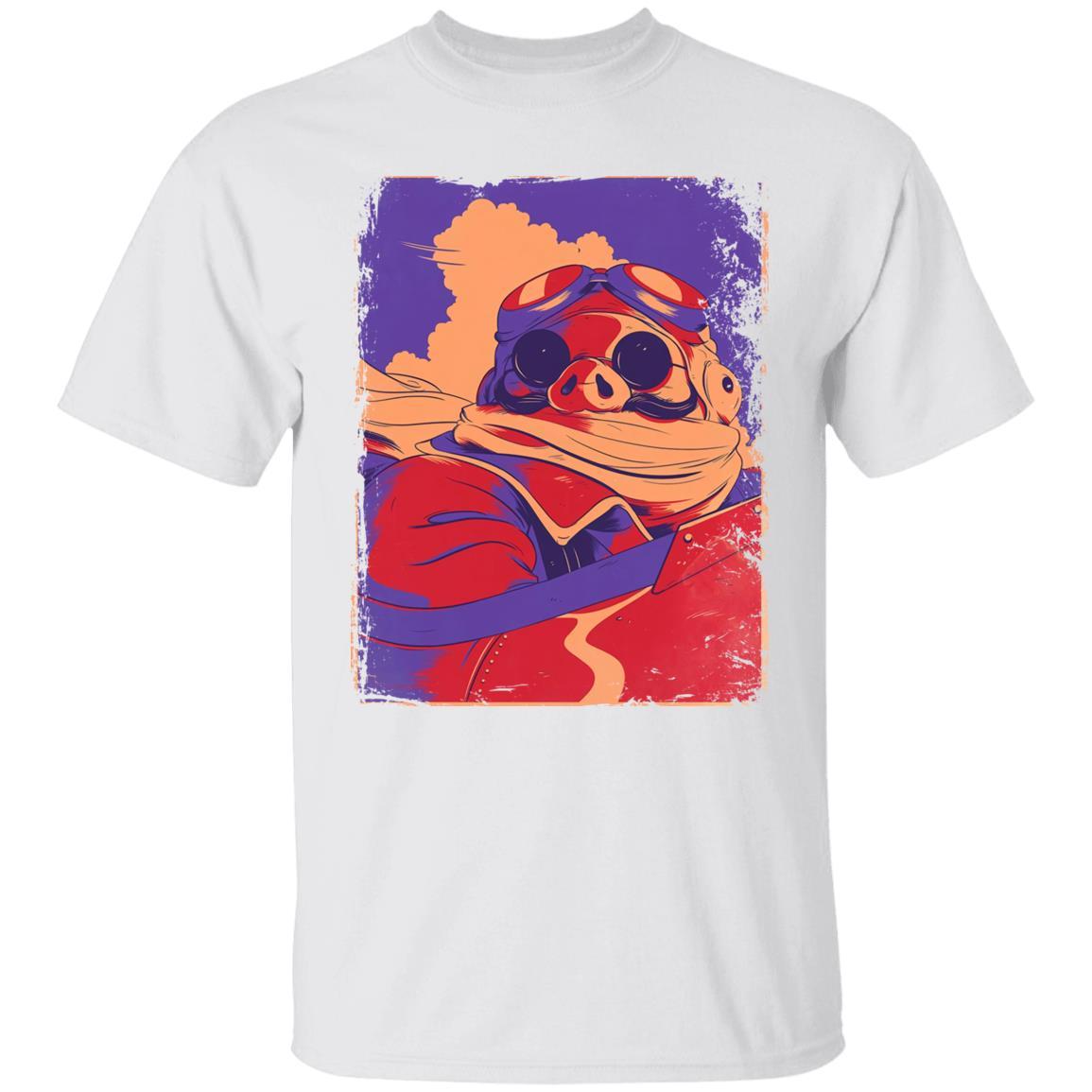 Porco Rosso Retro T Shirt