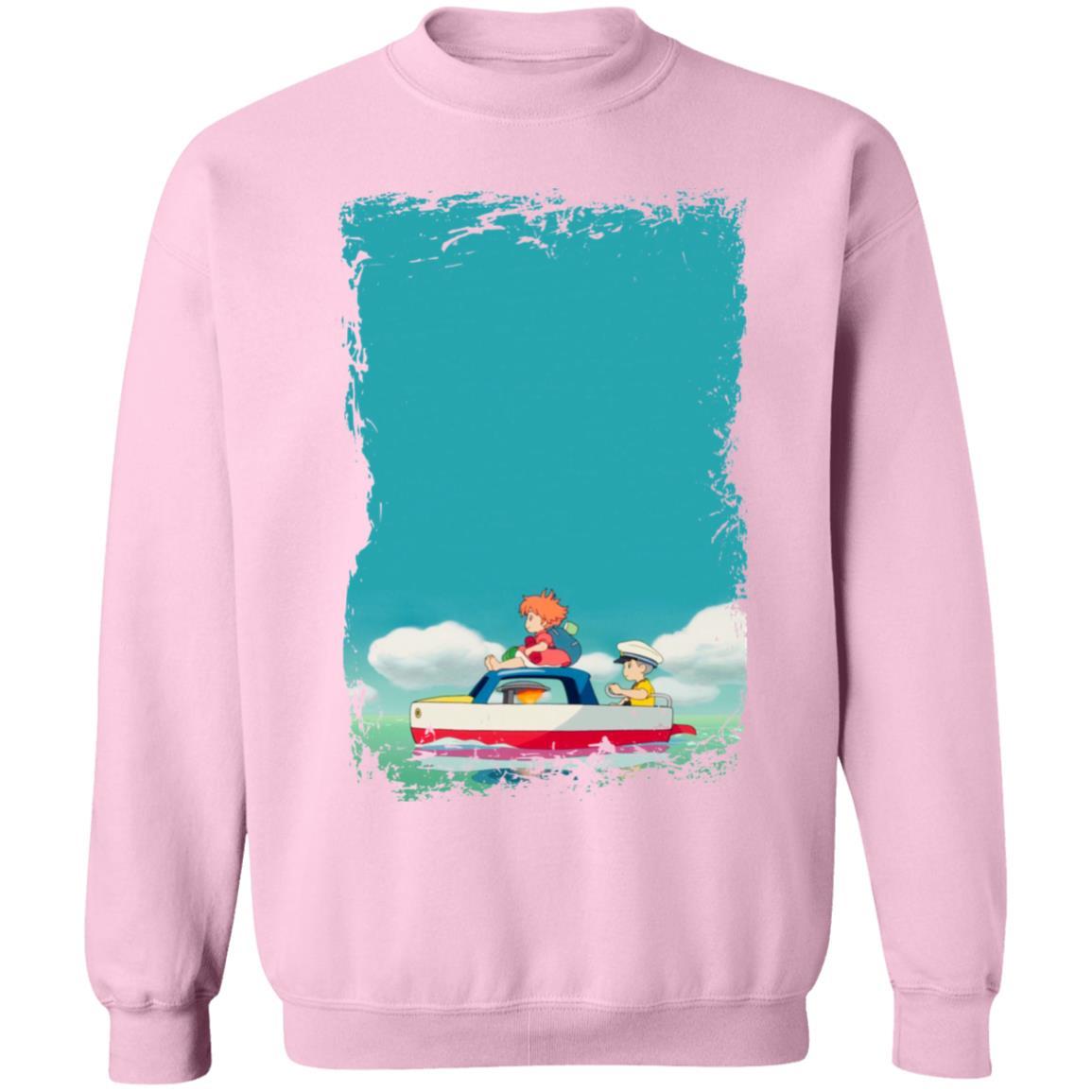 Ponyo and Sosuke on Boat Sweatshirt