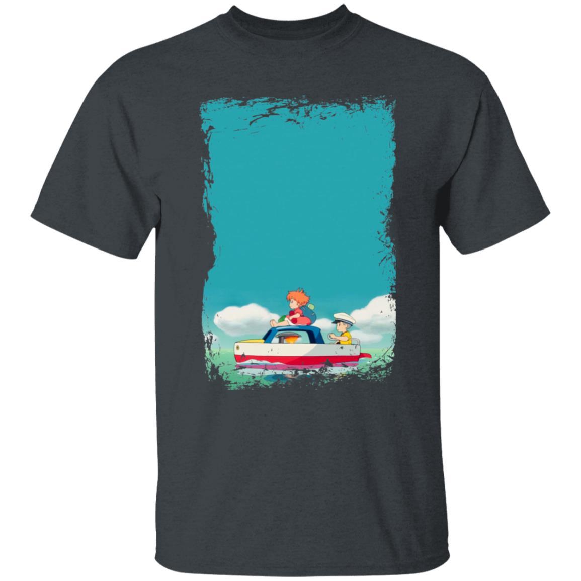 Ponyo and Sosuke on Boat T Shirt
