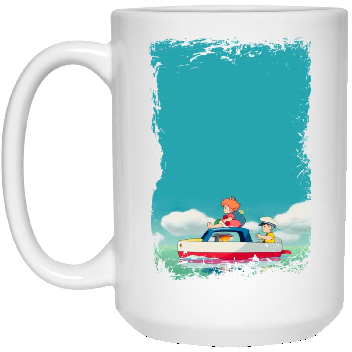 Ponyo and Sosuke on Boat Mug