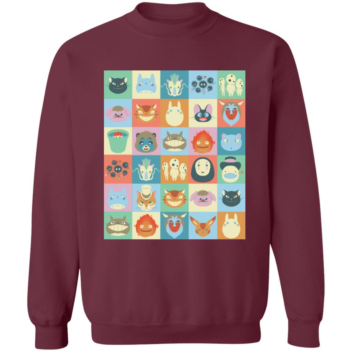 Ghibli Colorful Characters Collection Sweatshirt