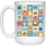 Ghibli Colorful Characters Collection Mug 15Oz