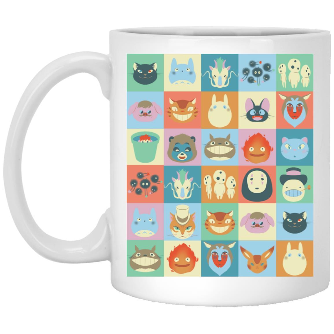 Ghibli Colorful Characters Collection Mug