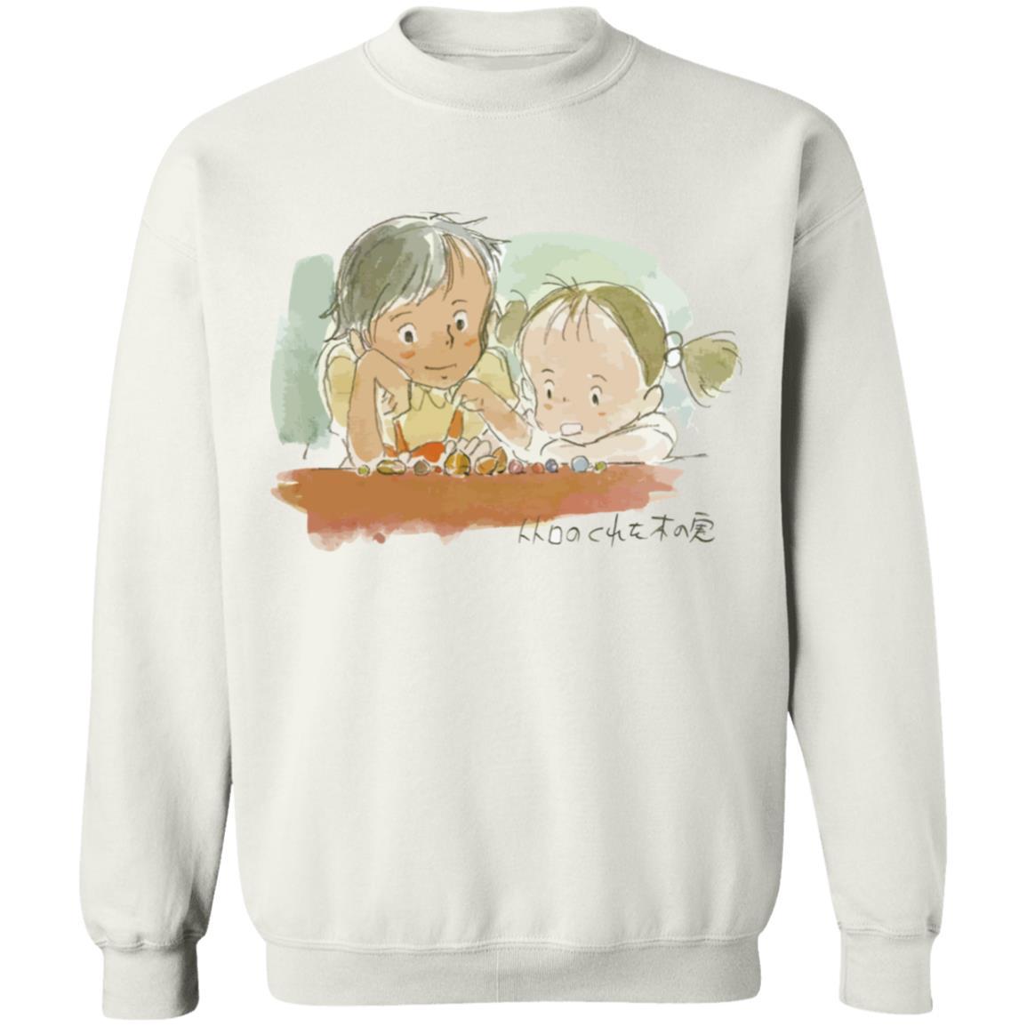 My Neighbor Totoro – Mei & Satsuki Water Color Unisex Sweatshirt