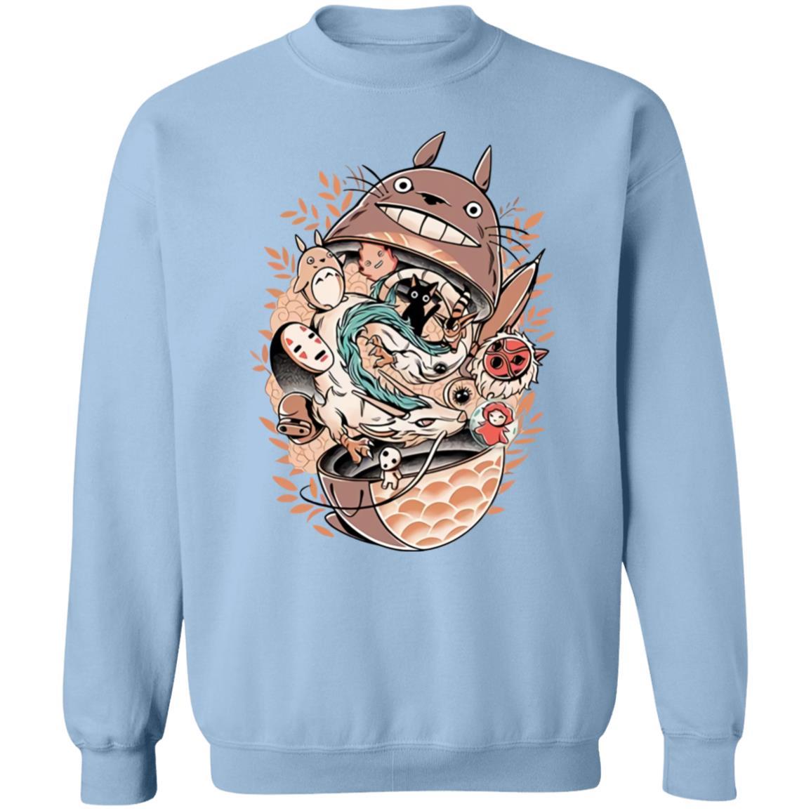 Totoro Daruma and Ghibli Friends Sweatshirt