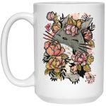 Totoro by the Flowers Mug 15Oz