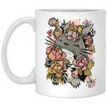 Totoro by the Flowers Mug 11Oz