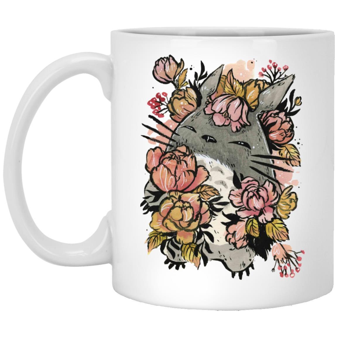 Totoro by the Flowers Mug