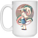 Haku and The Dragon Mug 15Oz